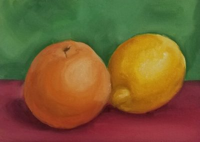 orangeandlemonpaintstillife